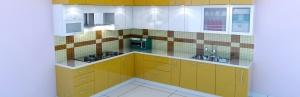 High glossy Modular Kitchen