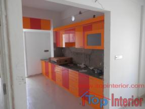 Image of a Modular kitchen during work progressing