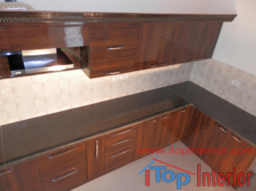 Modular kitchen top view