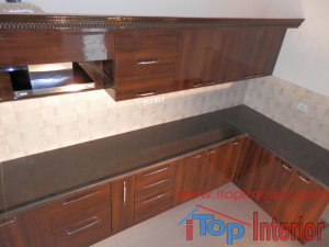 Modular kitchen top view