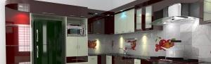 Modular kitchen middle unit