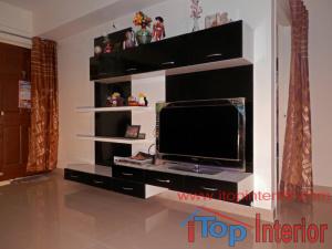 Modern TV wall unit model for living room.