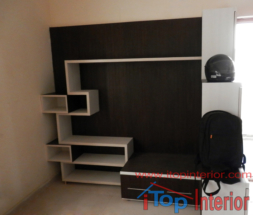 Black and white TV wall unit unit