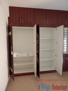 Inside image of a cute wardrobe