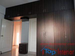 Full length loft dressing table and wardrobe