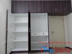 Simple wardrobe inside view