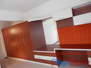 Master bedroom large wardrobe with dressing table and study table