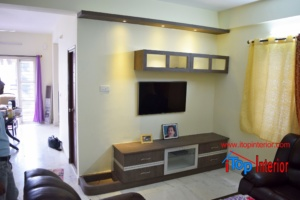 Simple TV wall unit