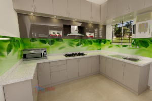 Acrylic finish Modular kitchen
