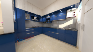 Acrylic-finish-modular-kitchen