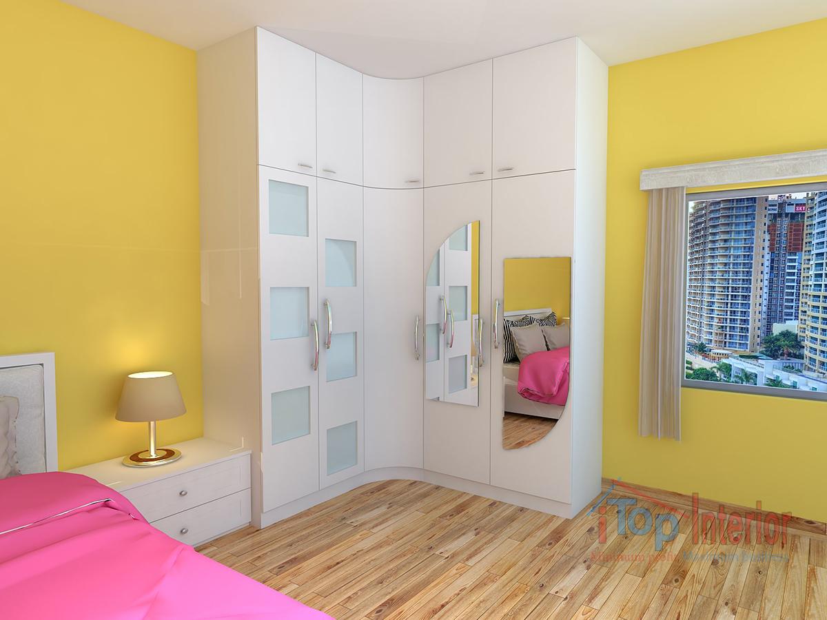 Interior wood work of bedroom