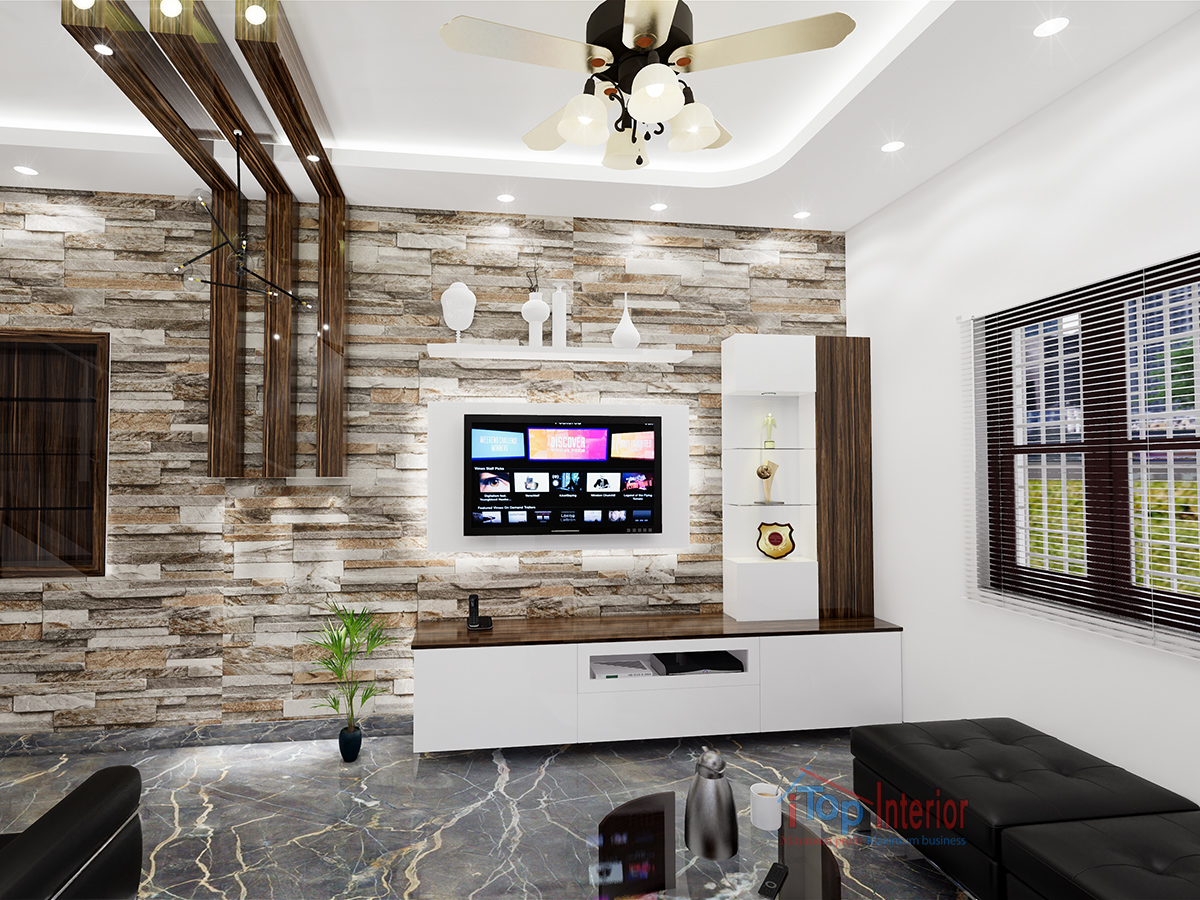 Living room interior woodwork