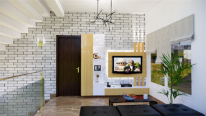 Modern TV unit for villa