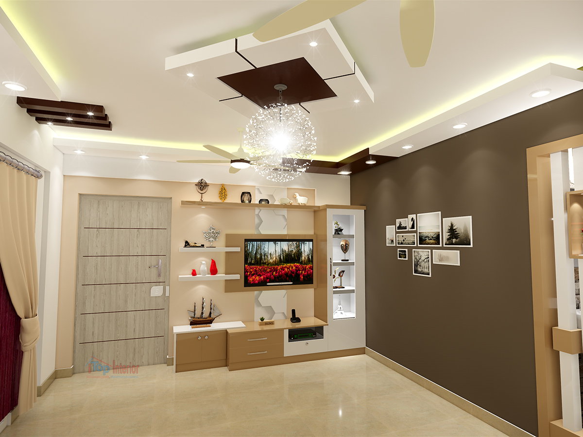 Modern Living room interior work in Bangalore