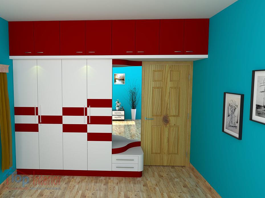 Bedroom interor woodwork